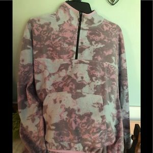 Purple, pink and blue fleece jacket, Large, NWT